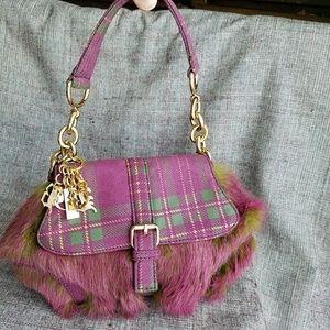 BCBGirl Faux Fur Small Shoulder Bag